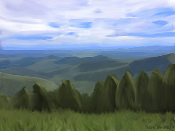 Rocky Knob - Painting Over a Photo